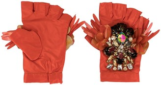 Biyan Embellished Padded Gloves