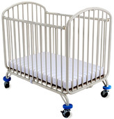 L.A. Baby Folding Arched Compact Convertible Crib with Mattress