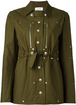 Courreges belted military jacket - women - Cotton/Spandex/Elastane - 34