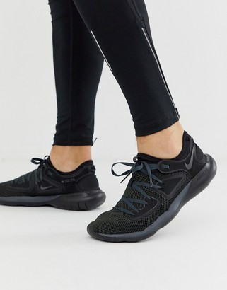 Nike Running Flex Contact 2 sneakers in triple black