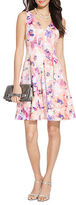 Lauren Ralph Lauren Petite Floral Sateen V-Neck Dress