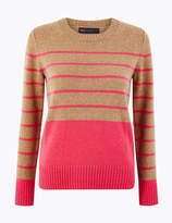 Marks and Spencer Wool Rich Striped Jumper