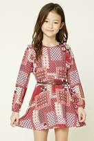 Forever 21 Girls Ornate Print Dress (Kids)