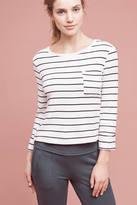 Splendid Lace-Up Striped Sweatshirt
