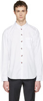Paul Smith White Embroidered Tailored Shirt