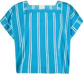 Stella Jean Striped cotton-toile top