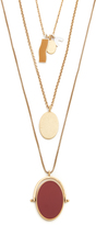 Madewell Enamel Pendant Layer Necklace