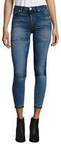 Paige Isla Patchwork Cropped Raw Hem Skinny Jeans