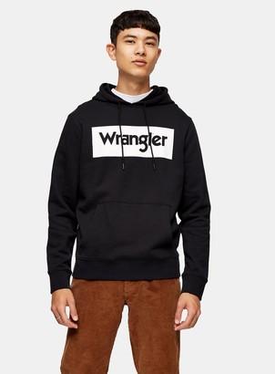 Topman WRANGLER Black Pullover Hoodie