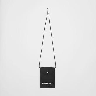 Burberry Logo Print Nylon Phone Case Lanyard