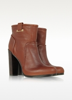 Rachel Zoe Charlie - Brown Leather Bootie