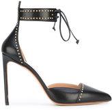 Francesco Russo ankle-tie pumps
