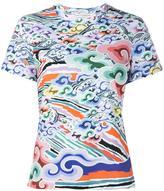 Mary Katrantzou Rainbow Cloud print T-shirt