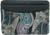 Robert Graham Men's Faux Leather Card Case Wallet with Paisley Print