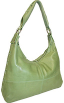 Nino Bossi Top Zip Hobo with Leather Lacing Detail