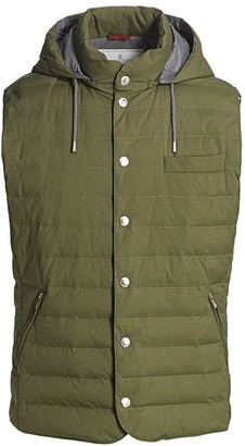 Brunello Cucinelli Hooded Down Quilted Vest