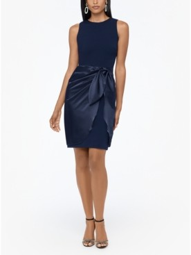 Betsy & Adam Wrap-Skirt Dress