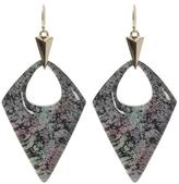 Alexis Bittar Abalone Patterned Lucite Drop Earrings