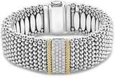 Lagos 18K Gold & Sterling Silver Diamond Lux Single Station Bracelet, 23mm