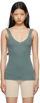 Thumbnail for your product : Arch4 Green Apple Ford Rib Tank Top