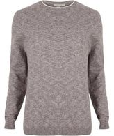 River Island MensPurple crew neck sweater