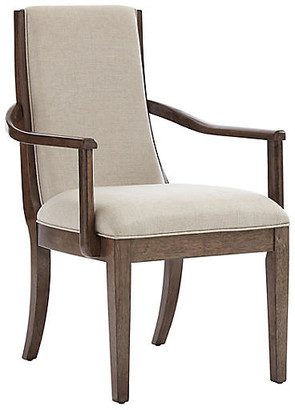One Kings Lane Panorama Armchair - Quicksilver/Ivory Linen