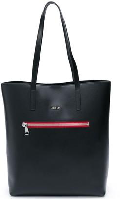 HUGO BOSS Contrast Zip Tote Bag
