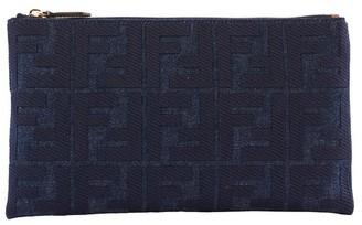 Fendi Denim Clutch Bag
