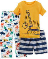 Carter's 3-Pc. Construction Pajama Set, Little Boys & Big Boys
