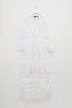 French Connection Adeona Lawn Lace Mix Dress