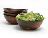 Lipper Wavy 4-pc. Acacia Wood Soup / Cereal Bowl Set