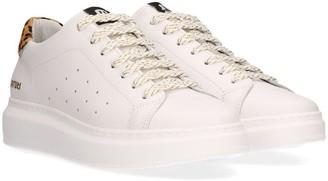 Maruti Claire Trainer White with Leopard Sneaker - 39