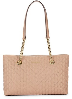 Karl Lagerfeld Paris Quilted Leather Tote