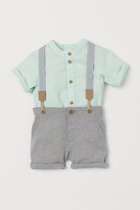 H&M 2-piece Set with Suspenders