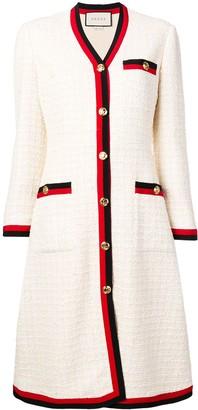 Gucci Web-trimmed tweed dress
