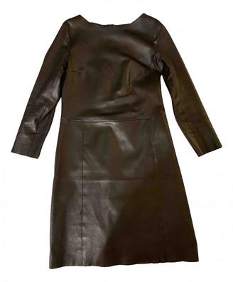 Drome Black Leather Dresses