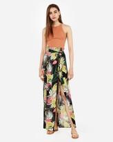 Express Super High Waisted Wrap Maxi Skirt