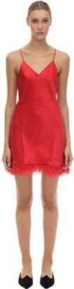Luna Di Seta Embellished Silk Slip Dress
