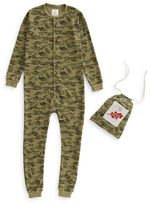 Drake General Store Adult Camo Waffle-Knit Footed Sleeper