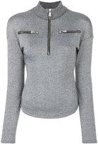 Versus high neck metallic (Grey) jumper
