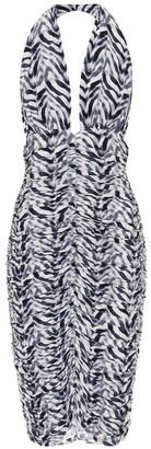 Norma Kamali Bill zebra-print jersey dress