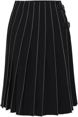 Piazza Sempione Flared Wool-blend Wrap Skirt