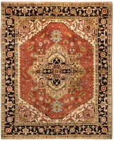 HRI Serapi Hand-Knotted Wool Pile Area Rug - 9x12', Heritage Collection