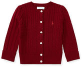 Ralph Lauren Girl Cable-Knit Cotton Cardigan