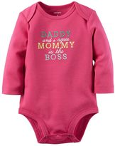 Carter's Baby Girl Embroidered Graphic Bodysuit