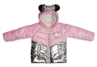 Minnie Mouse Toddler Girl Metallic Winter Jacket Coat