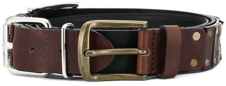 Diesel Red Tag studded logo belt