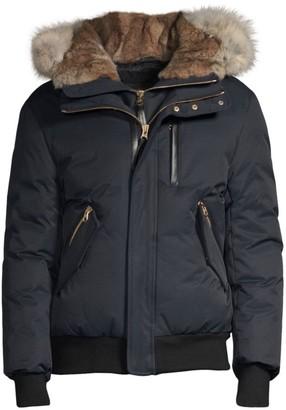 Mackage Dixon Fur-Trimmed Down Bomber Jacket
