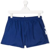 DSQUARED2 TEEN logo-printed swim shorts
