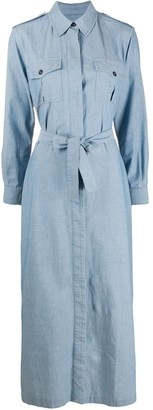 Forte Dei Marmi Couture Denim Shirt Dress